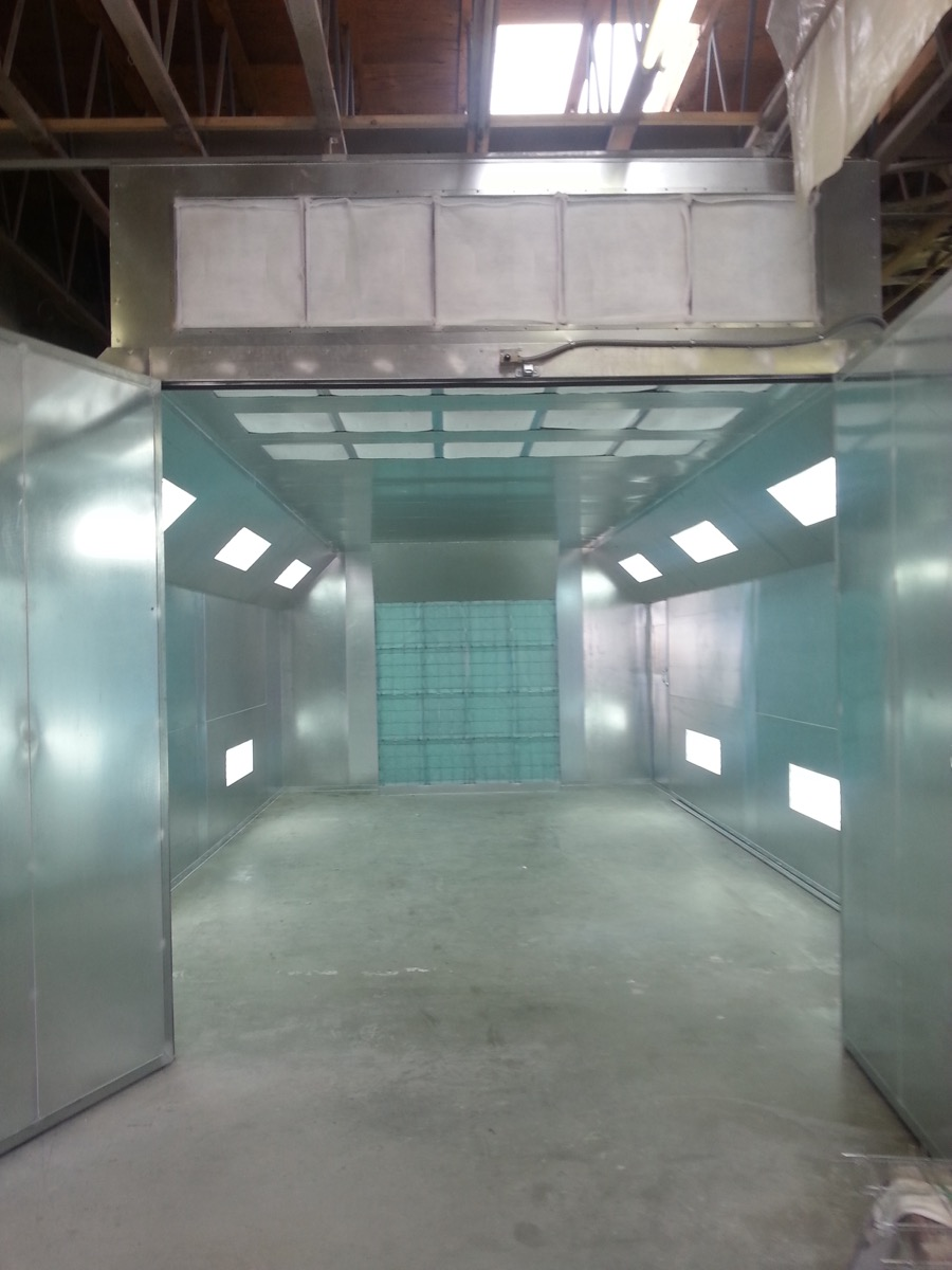 Automotive Semidown Spray Booth 1
