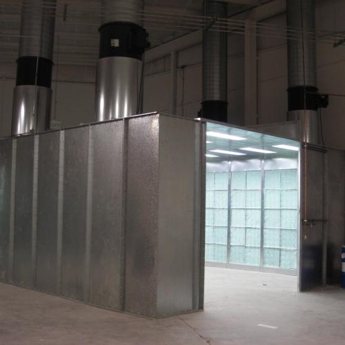 Industrial Crossflow Paint Booth 5