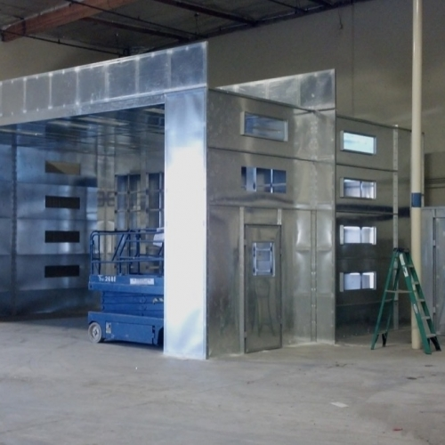 Industrial Open Front Paint Booth 1