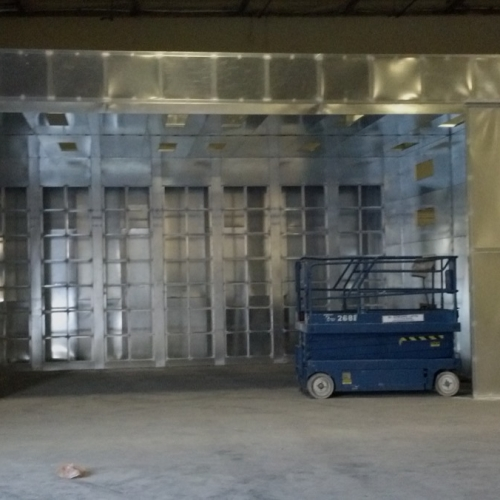 Industrial Open Front Paint Booth 2