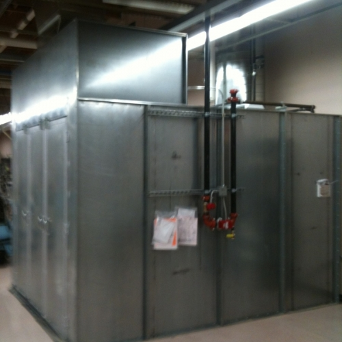 Industrial Semi Downdraft Paint Booth 1