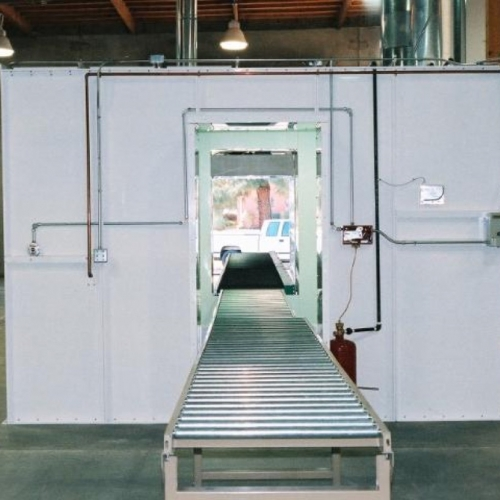 Industrial Semi Downdraft Paint Booth 5