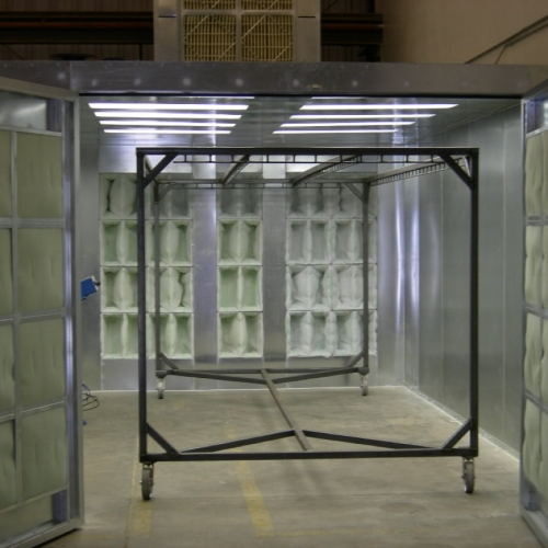 Powder coating spray booths nw for Powder coating paint booth