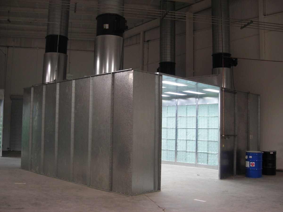 Industrial Crossflow Paint Booth 5