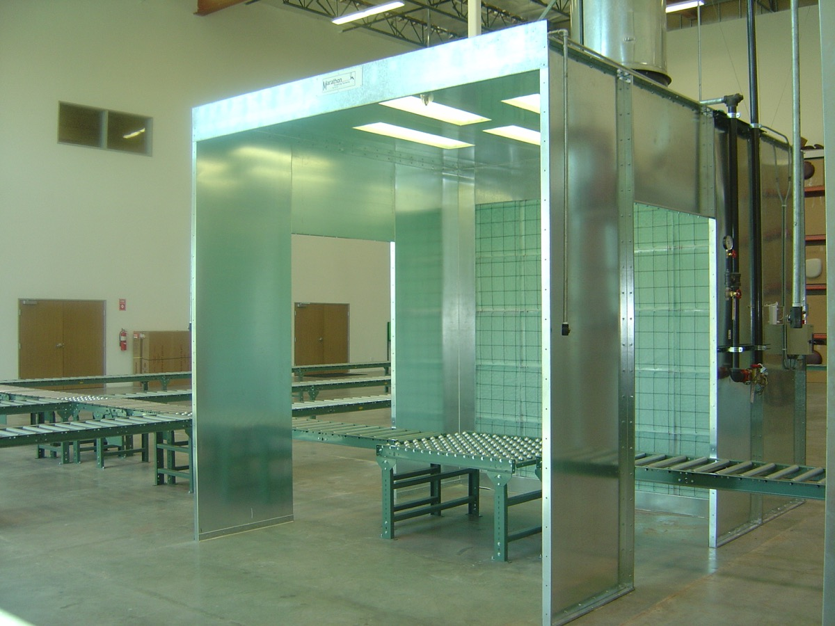 Industrial Open Front Paint Booth 3