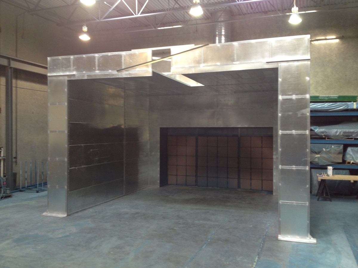 Industrial Open Front Paint Booth 4