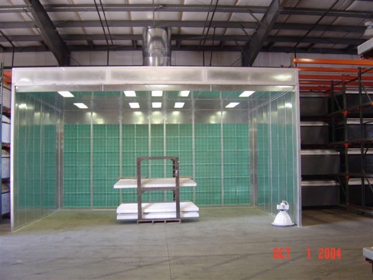 Industrial Open Front Paint Booth 5