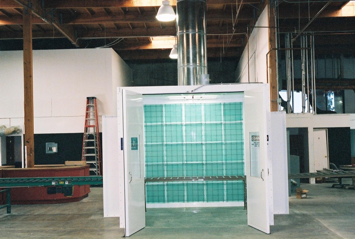 Industrail Semi Downdraft Paint Booth 3