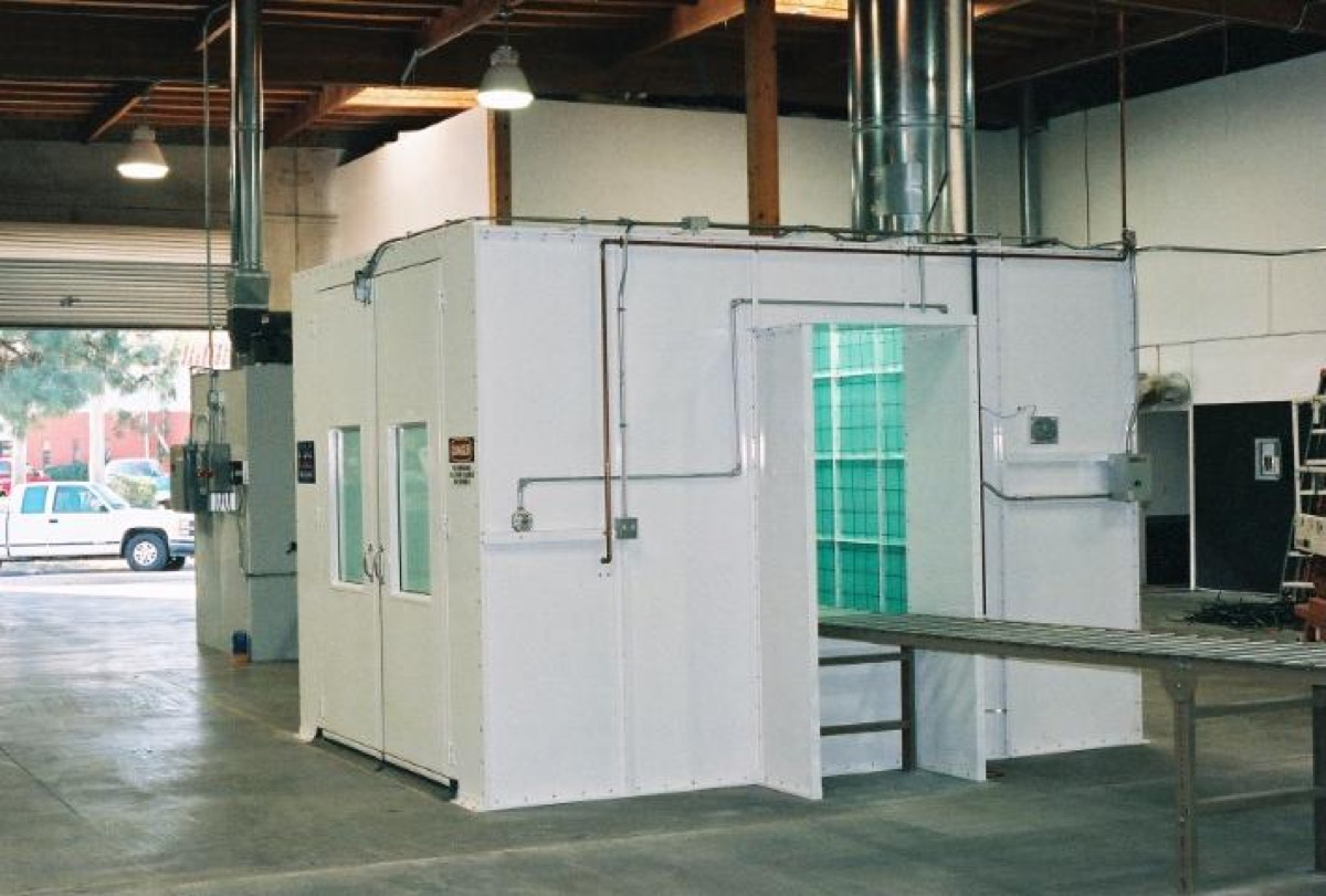 Industrial Semi Downdraft Paint Booth 4