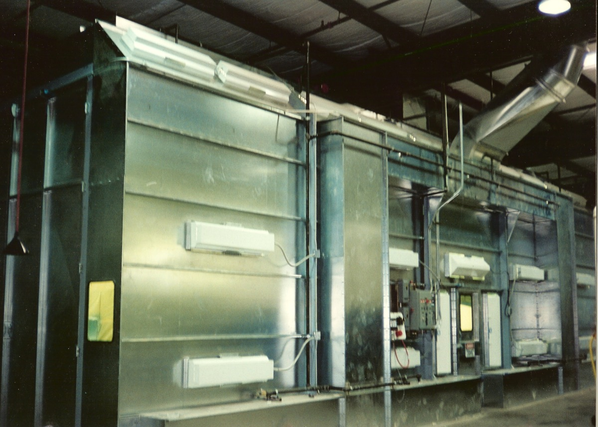 Industrial Side Downdraft Paint Booth 2