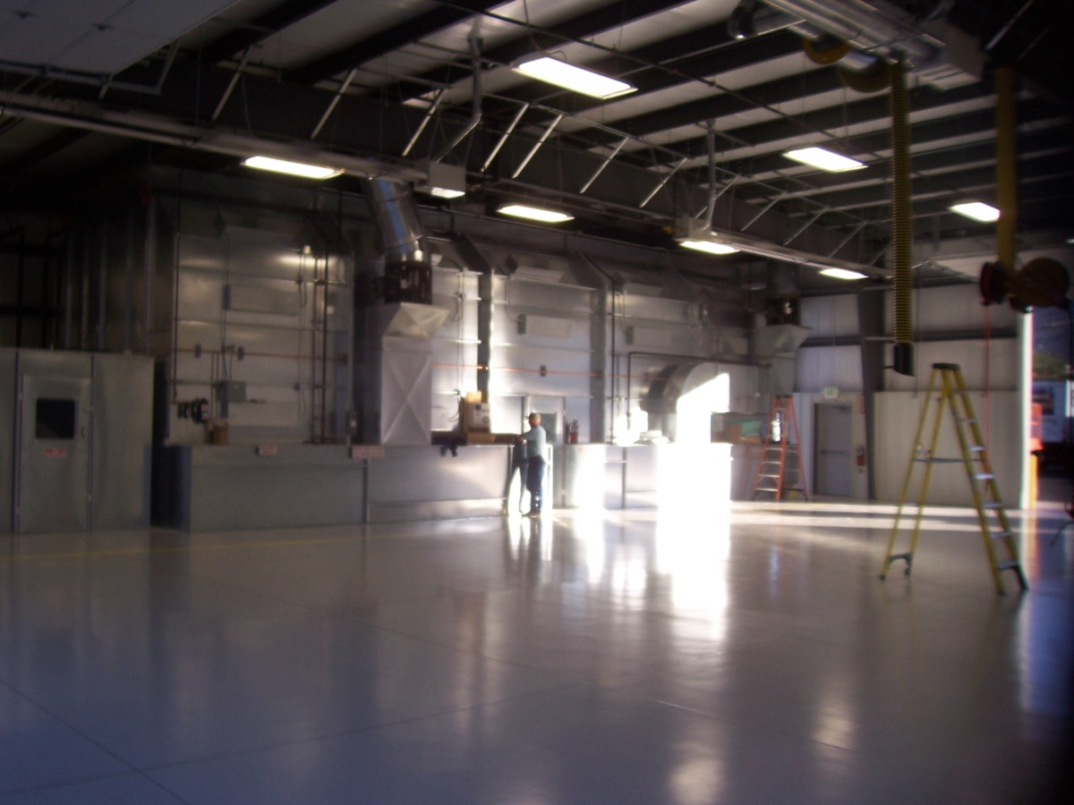 Industrial Side Downdraft Paint Booth 4